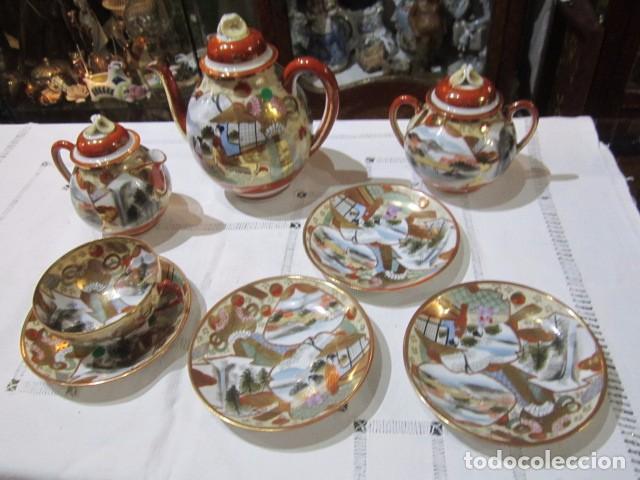 Antiguo juego de te en porcelana japonesa con m comprar for Marcas de porcelana