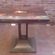 Antigüedades: MESA DE COMEDOR PLEGABLE. Lote 106059286