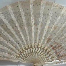Antigüedades: PRECIOSO ABANICO DE FINALES DE 1800 PRINCIPIOS DE 1900. Lote 64994159