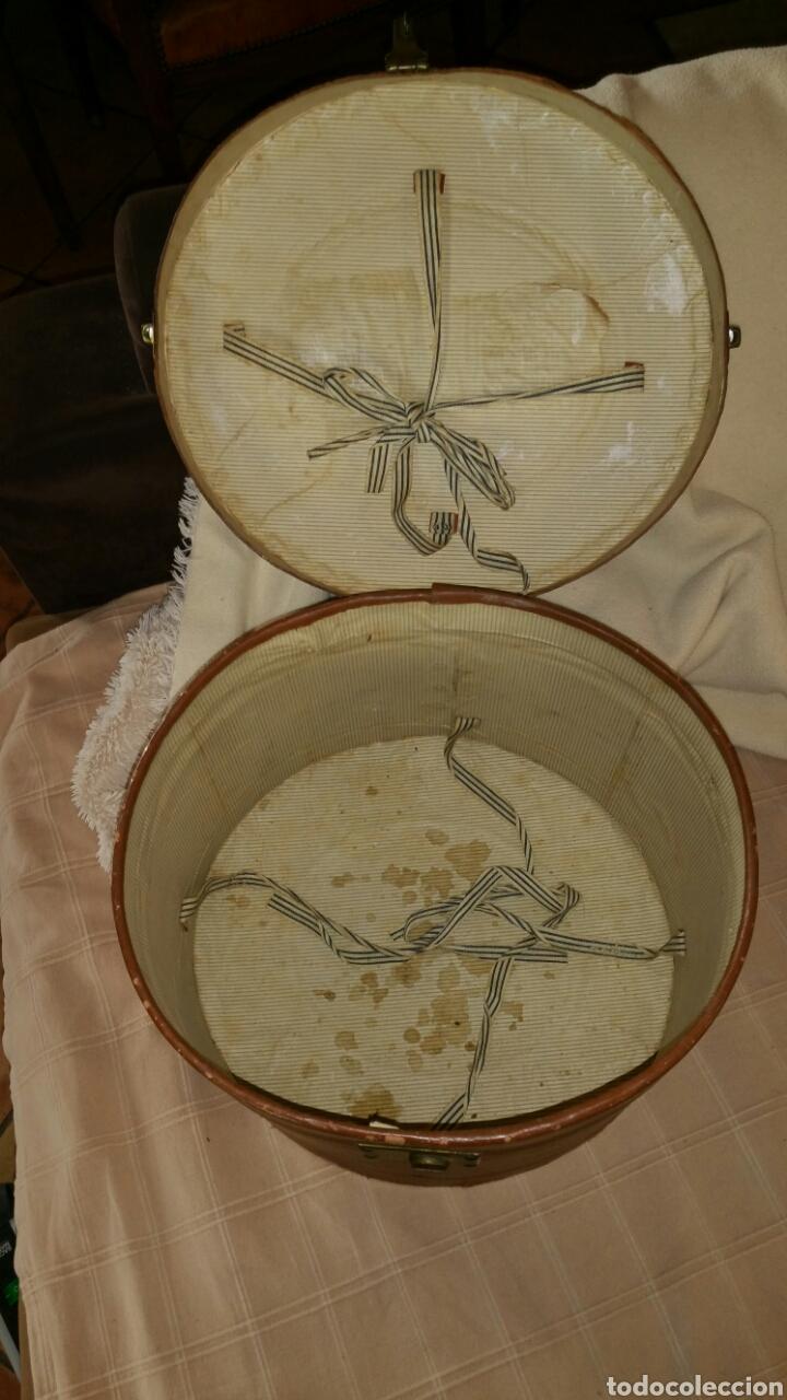 Antigüedades: Antigua sombrerera finales del siglo XIX principios del siglo XX - Foto 7 - 65020641