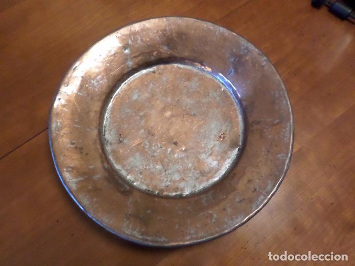 PLATO COBRE Y ESTAÑO (Antigüedades - Técnicas - Rústicas - Utensilios del Hogar)