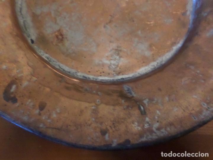 Antigüedades: PLATO COBRE Y ESTAÑO - Foto 3 - 65251995