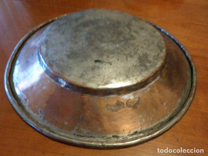 Antigüedades: PLATO COBRE Y ESTAÑO - Foto 5 - 65251995