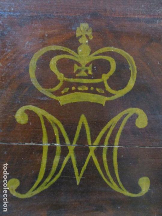 Antigüedades: Antiguo Copete - Remate de Cama - Plafón - Carlos IV - Madera Policromada - Finales S. XVIII - Foto 4 - 65267487