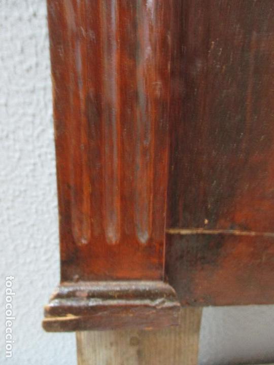 Antigüedades: Antiguo Copete - Remate de Cama - Plafón - Carlos IV - Madera Policromada - Finales S. XVIII - Foto 5 - 65267487