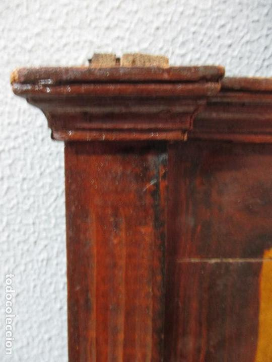 Antigüedades: Antiguo Copete - Remate de Cama - Plafón - Carlos IV - Madera Policromada - Finales S. XVIII - Foto 6 - 65267487