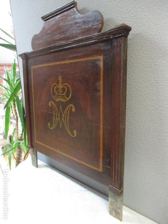 Antigüedades: Antiguo Copete - Remate de Cama - Plafón - Carlos IV - Madera Policromada - Finales S. XVIII - Foto 12 - 65267487