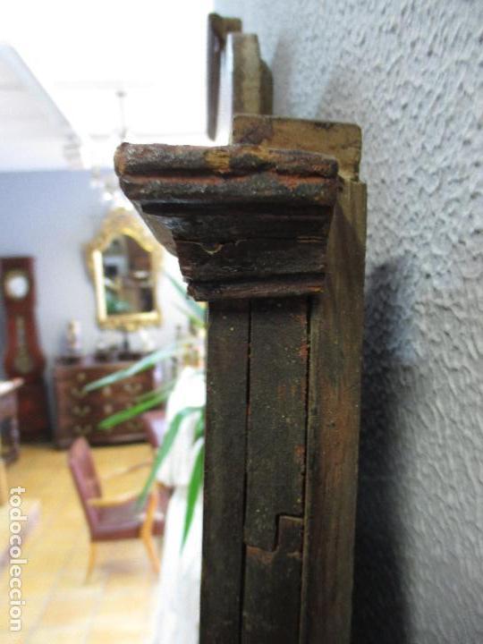 Antigüedades: Antiguo Copete - Remate de Cama - Plafón - Carlos IV - Madera Policromada - Finales S. XVIII - Foto 14 - 65267487