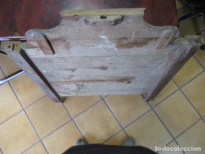 Antigüedades: Antiguo Copete - Remate de Cama - Plafón - Carlos IV - Madera Policromada - Finales S. XVIII - Foto 19 - 65267487