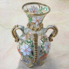 Antigüedades: JARRÓN GORDIOLA EN VIDRIO SOPLADO. MALLORCA. FIRMADO. Lote 65363939