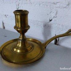 Antigüedades: ANTIGUA Y BONITA PALMATORIA DE BRONCE GRUESO CON ASA.MUY BUEN ESTADO. Lote 65450930