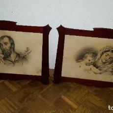 Antigüedades: 2 MARCOS MADERA FINALES S.XIX. Lote 65457150