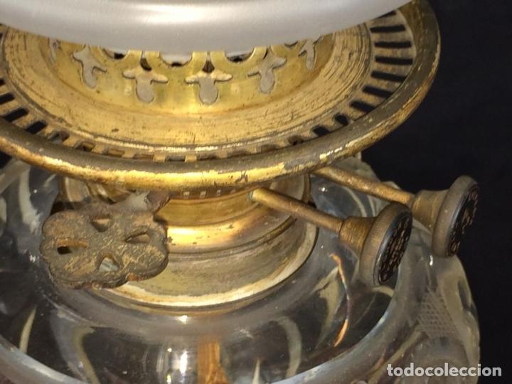 Antigüedades: QUINQUÉ. COLUMNA CLÁSICA. CRISTAL Y METAL PLATEADO. EVERED CO. INGLATERRA. 1850 - Foto 8 - 65659074