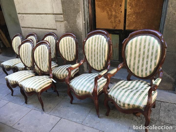 Siller a isabelina de caoba 1860 39 s completa s comprar for Sillones antiguos