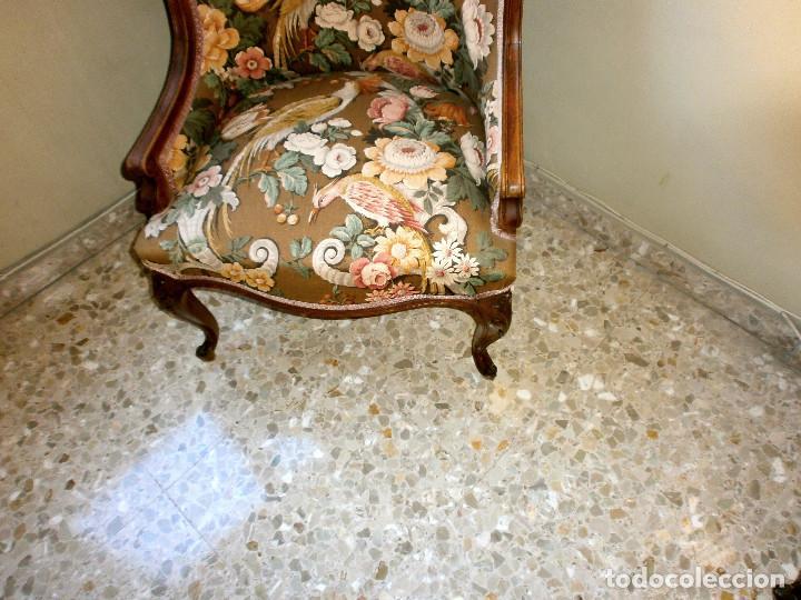 Antigüedades: Sillones de nogal y caoba de 1940 Luis XV - Foto 2 - 65747854