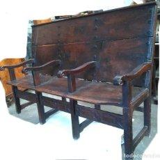 Antigüedades: BANCA DE NOGAL DEL SIGLO XVII. Lote 65786626