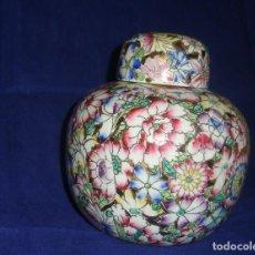 Antigüedades: TIBOR DE PORCELANA DE MACAO, POTICHE PORCELANA 15 X16CM.. Lote 65802250