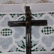 Antigüedades: ORIGINAL CRUCIFIJO DE FORJA Y CLAVOS. Lote 65807126