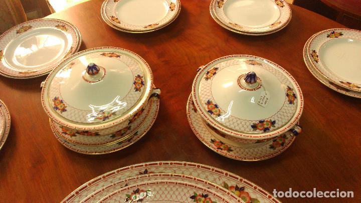 Antigüedades: Vajilla Inglesa loza Burslem Circa 1880. Referencia P-223/B-15226 - Foto 3 - 65823346