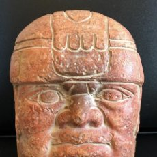 Antigüedades: CARA OLMECA. Lote 65828534