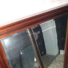 Antigüedades: ESPEJO MADERA. Lote 65841730
