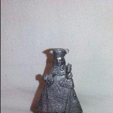 Antigüedades: ANTIGUA FIGURA RELIGIOSA EN METAL VIRGEN, MED. 9 CMTS. Lote 65862130