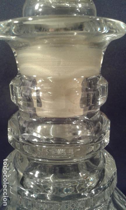 Antigüedades: Botella de cristal tallado. ¿Inglaterra?. Siglo XIX-XX. - Foto 7 - 65872154
