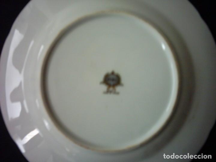 Antigüedades: PLATO DE PORCELANA JAPONESA DECORADO CON RAMAS DE PINOS PIÑONEROS. 20 ,5 Cm. MARCA EIHO. GRADE A. - Foto 2 - 65886294