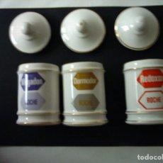 Antigüedades: ALBARELOS DE PORCELANA ESPAÑOLA. 12 X 7 CM. . Lote 65887922