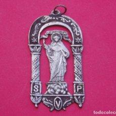 Antigüedades: MEDALLA DE SAN VICENTE FERRER SIGLO XIX PATRÓN DE VALENCIA.. Lote 65919034
