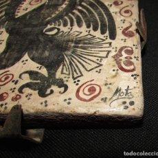 Antigüedades: LADRILLO - AZULEJO - BARRO - 12 X 12. Lote 65921146