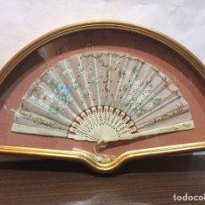Antigüedades: ABANICO ENMARCADO-PINTADO A MANO. Lote 65936603