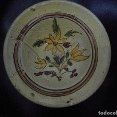 Antigüedades: PEQUEÑO PLATO O LEBRILLO CERAMICA. Lote 65941254