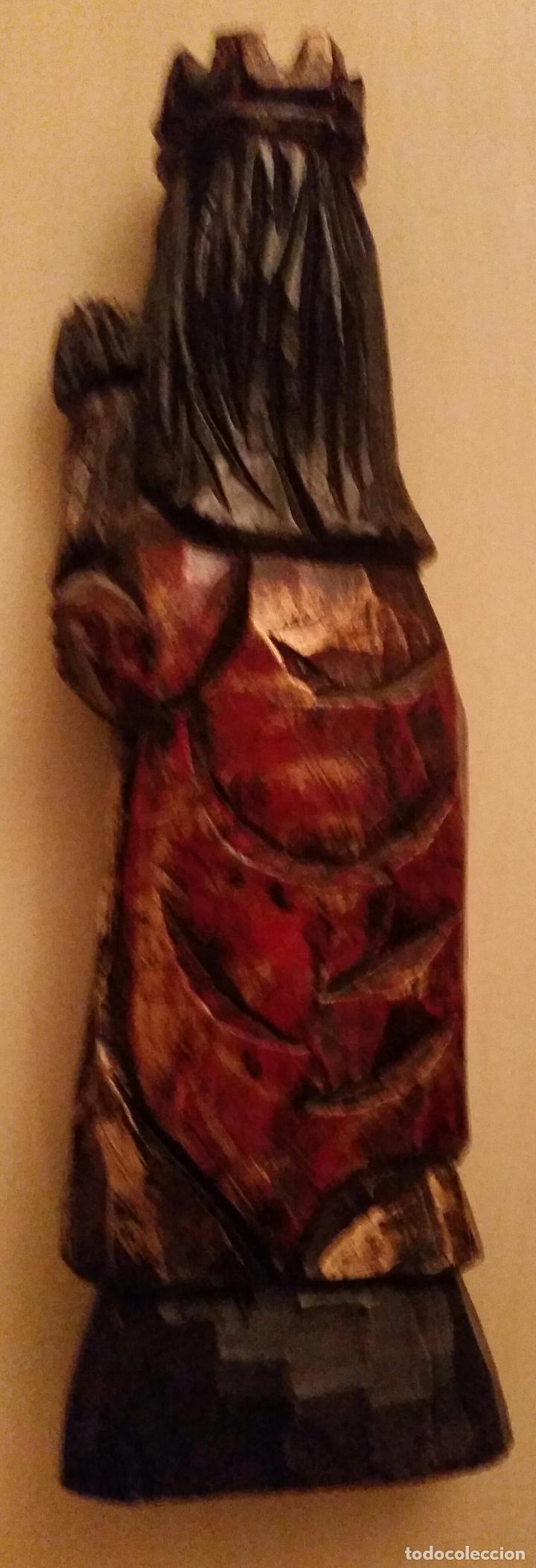 Antigüedades: ANTIGUA TALLA EN MADERA MACIZA DE VIRGEN CON NIÑO (AÑOS 50) - Foto 3 - 47356003