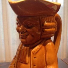 Antigüedades: JARRA DE CERVEZA FÁBRICA IBERO TANAGRA SANTANDER 24 CM. Lote 66014610
