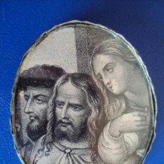 Antigüedades: (ANT-161137)RELICARIO DE PLATA CAJA OVAL DOBLE CRISTAL. Lote 66018022