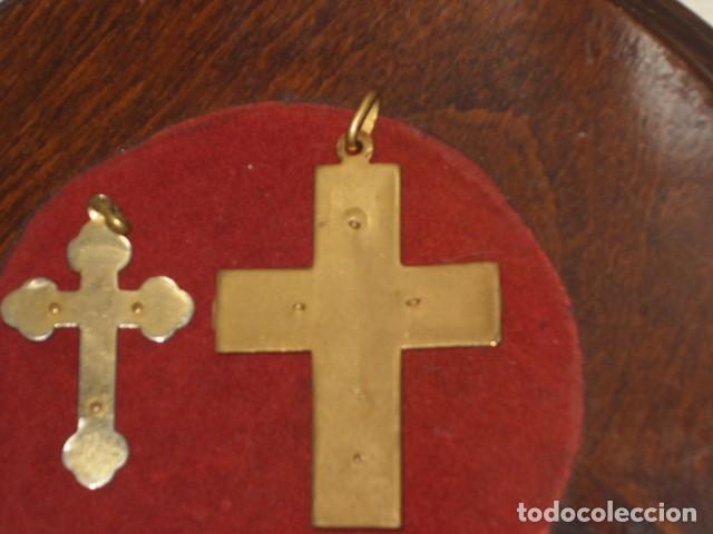 Antigüedades: CRUZ DE NACARADA,2 CRUCES DE COMUNION NACARADAS,AÑOS 70. - Foto 4 - 66018802