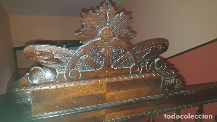 Antigüedades: Cabecero antiguo de madera finales del siglo XIX - Foto 4 - 66029742