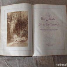 Antigüedades: THE HOLY BIBLE. LONDON R&A SUTTABY ILUSTRADA.BIBLIA. Lote 66036014