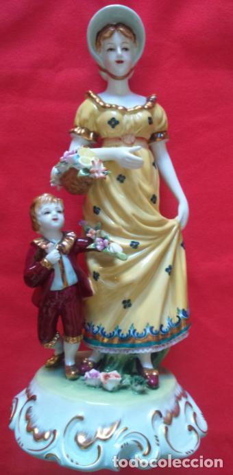 PORCELANA MEISSEN, FINALES S. XIX, EN PERFECTO ESTADO. 32 CMS ALTURA. (Antigüedades - Porcelana y Cerámica - Alemana - Meissen)