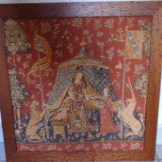 Antigüedades: TAPIZ DE LA DAMA DEL UNICORNIO.. Lote 66043038