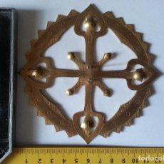 Antigüedades: SEMANA SANTA GRAN CORONA RESPLANDOR IMAGEN RELIGIOSA SANTO VIRGEN CRISTO NIÑO JESUS METAL 12CM. Lote 66105266