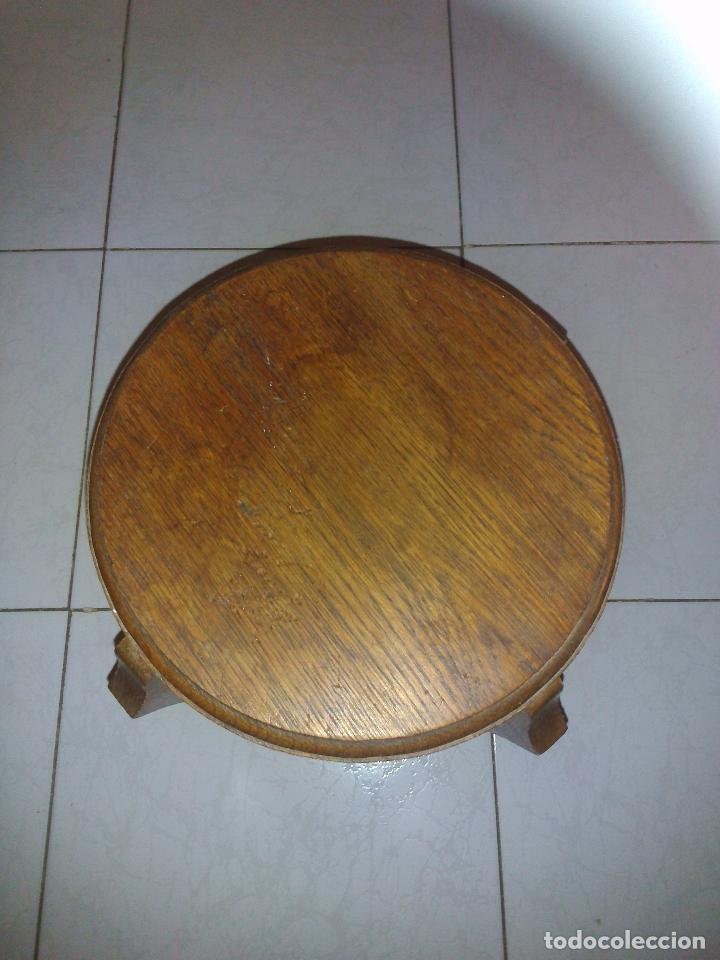 Antigüedades: Antiguo velador madera - Foto 3 - 184006551