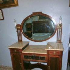Antigüedades: DORMITORIO COMPLETO DECÓ, AUTÉNTICO DE ÉPOCA, TODO CAOBA MACIZA. Lote 66116538