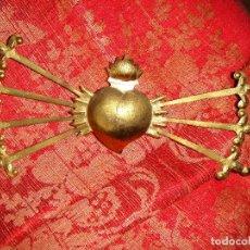 Antigüedades: PUÑAL METAL DORADO PARA VIRGEN DOLOROSA. EN PERFECTO ESTADO. Lote 66131362