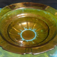 Antigüedades: PALANGANA DE VIDRIO GRUESO CON GREGA. Lote 66165018
