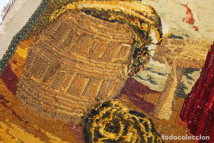 Antigüedades: TAPIZ ANTIGUO BORDADO EN PETIT POINT - MARINEROS - OBRA FRANCESA - CIRCA 1850 - Foto 17 - 66174066