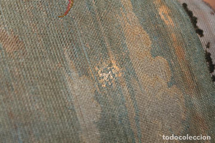 Antigüedades: TAPIZ ANTIGUO BORDADO EN PETIT POINT - MARINEROS - OBRA FRANCESA - CIRCA 1850 - Foto 20 - 66174066