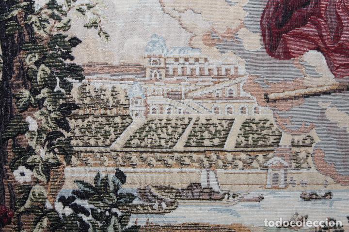 Antigüedades: TAPIZ EN JACQUARD DE ALGODÓN - APOLO Y JUNO SOBRE VERSALLES - OBRA FRANCESA - CIRCA 1940 - Foto 5 - 66174426