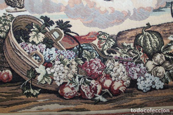 Antigüedades: TAPIZ EN JACQUARD DE ALGODÓN - APOLO Y JUNO SOBRE VERSALLES - OBRA FRANCESA - CIRCA 1940 - Foto 6 - 66174426